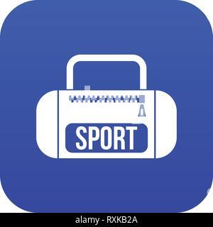 Sports bag icon digital blue - Stock Photo