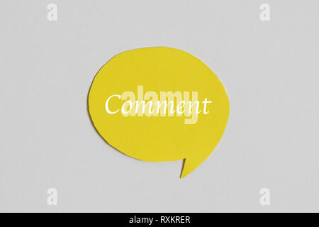 Symbol and concept for talking and message : yellow chat speech icon - Stock Photo