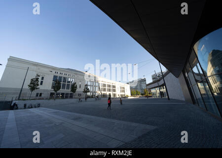 Milan, Lombardy, Italy: modern buildings at Citylife, the shopping district - Stock Photo