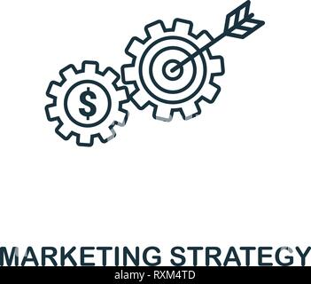 Marketing Strategy icon thin line style. Symbol from online marketing icons collection. Outline marketing strategy icon for web design, apps, software - Stock Photo
