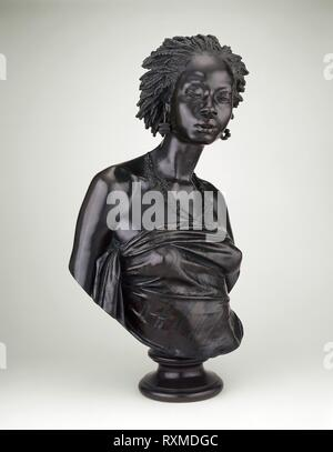 Bust of an African Woman. Charles Henri Joseph Cordier; French, 1827-1905; Cast by: Eck et Durand Fondeur; French, 19th century. Date: 1851. Dimensions: H. 71.7 cm (31 in.) (with socle)  H. 62.2 cm (27 1/4 in.) (without socle). Bronze. Origin: France. Museum: The Chicago Art Institute. - Stock Photo