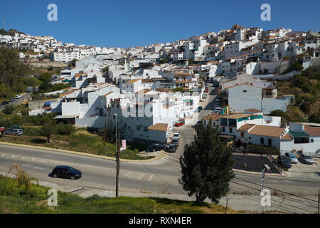 White Village of Álora, Málaga province, Andalusia, Spain. - Stock Photo