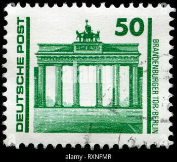 Postmarked stamp from East Germany (DDR)  in the Buildings and monuments series issued in 1990 - Stock Photo