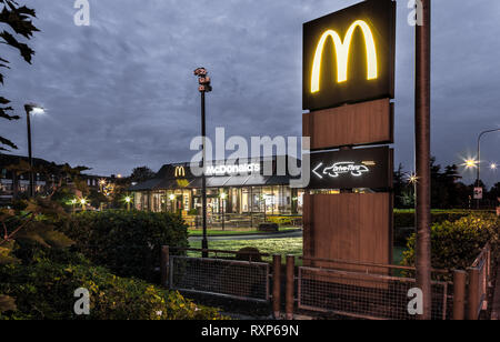 Douglas, Cork, Ireland. 22nd October, 2016 McDonalds Drive thru outlaet at the East Village in Douglas Cork. - Stock Photo