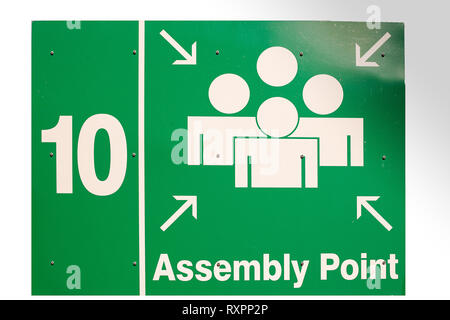 Signs around university and hospital - Stock Photo
