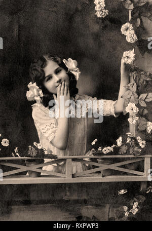 Vintage portrait of woman in the late 19 th century - Stock Photo