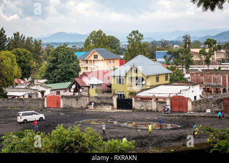 Street scene in Goma, Democratic Republic of Congo - Stock Photo