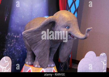 "Beverly Hills, California, USA. 10th Mar 2019. 03/10/2019 ""Dumbo"" Press Conference held at The Beverly Hilton Hotel in Beverly Hills, CA Photo by Kazuki Hirata/HollywoodNewsWire.co Credit: Hollywood News Wire Inc./Alamy Live News - Stock Photo"