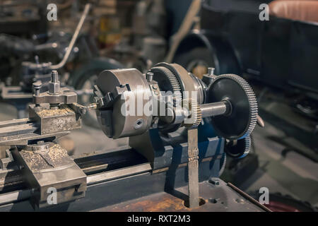 Vintage lathe units and aggregates of mechanical equipment. - Stock Photo