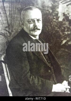 Aloysius Alzheimer (1864 – 1915) German psychiatrist and neuropathologist - Stock Photo
