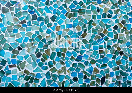 Abstract glass tile mosaic wall background - Stock Photo