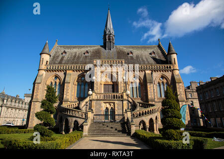 The McManus Art Gallery & Museum in Dundee caught in evening sunlight - Stock Photo