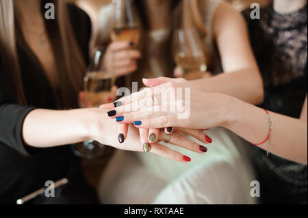 Join Hands Cancer Campaign Care Charity Union Concept. - Stock Photo