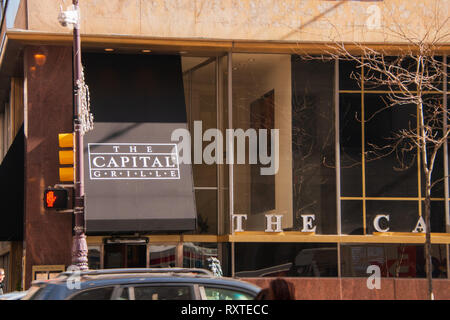 Philadelphia, Pennsylvania - February 5, 2019: This Capital Grill restaurant is located in center city Philadelphia as seen on this date - Stock Photo
