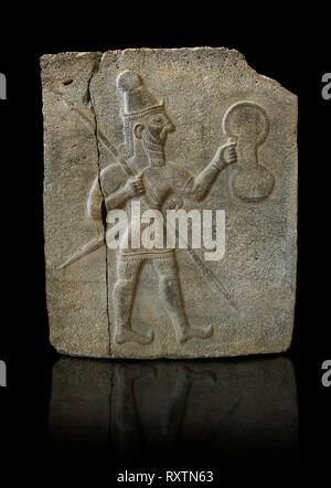 10th - 8th century BC stone Neo-Hittite/ Aramaean Orthostats from the city of Sam'al (Hittite: Yadiya) near Zincirli Höyük in the Anti-Taurus Mountain - Stock Photo