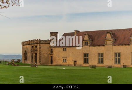 BOLSOVER, UK - 7TH OCTOBER 2018: The front grounds of Bolsover Castle - Stock Photo