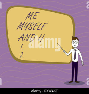 Handwriting text writing Me Myself And I. Conceptual photo selfish selfindependent Taking responsibility of actions - Stock Photo