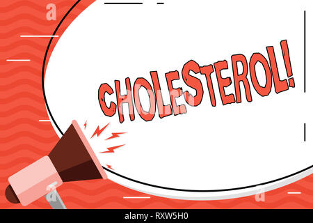 Word writing text Cholesterol. Business photo showcasing Low Density Lipoprotein High Density Lipoprotein Fat Overweight - Stock Photo
