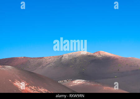 Departure station for the camel ride. Yaiza, Lanzarote. Spain - Stock Photo