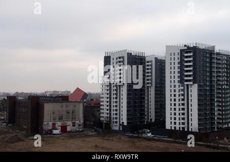 New apartment blocks at Gdansk in Poland - Stock Photo