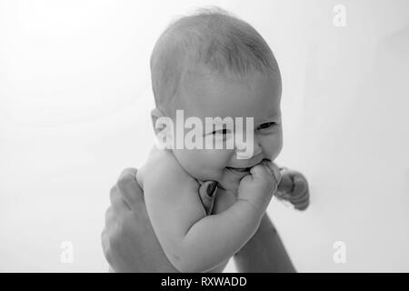 Best mom. Family. Child care. Childrens day. Sweet little baby. New life and baby birth. Small girl with cute face. parenting. Portrait of happy - Stock Photo