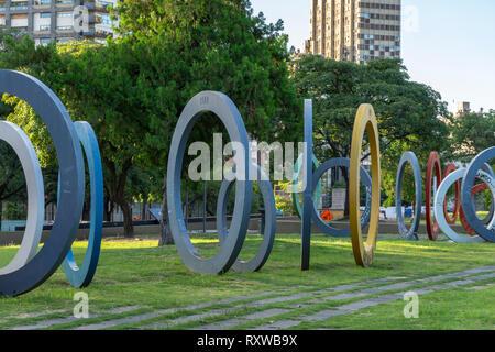 Bicentenary Square (Plaza del Bicententario), Córdoba, Argentina - Stock Photo