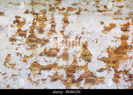 wall with circled plaster - Stock Photo