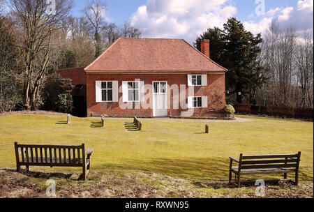Quaker Burial Ground and meeting house in Jordans, England, showing the Graves of William Penn and his Family - Stock Photo