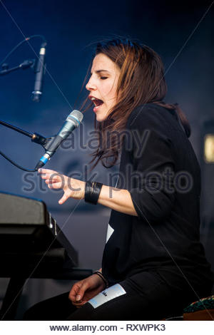 TULSA (French band) performing live, 13 july 2014 - Stock Photo
