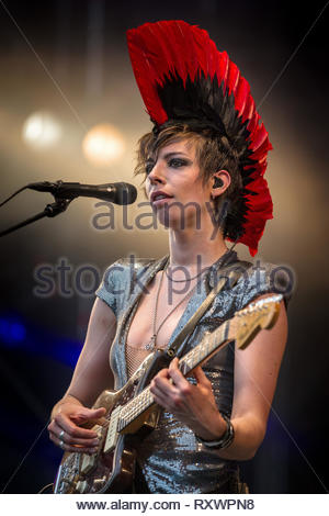MADEMOISELLE K (Katerine Gierak) performing live, 16 july 2011 - Stock Photo