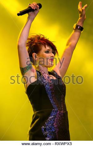 SCISSOR SISTERS (Ana Matronic) performing live, 14 july 2011 - Stock Photo
