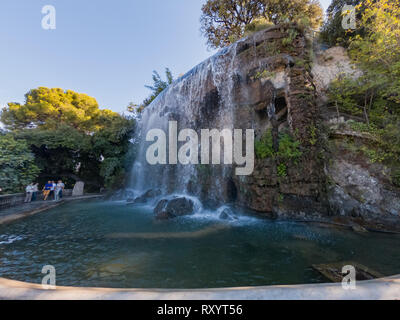 The Cascade Du Casteu waterfall in Castel Hill at Nice, France - Stock Photo