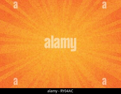 Abstract sun burst orange color circle pattern texture design background. You can use for sales poster, promotion ad, artwork of text, cover design. i - Stock Photo