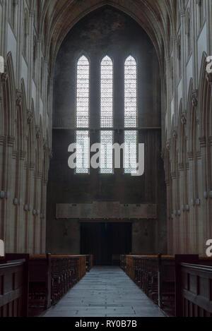 Downside Abbey Church, Somerset UK - Stock Photo