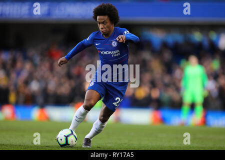 London, UK. 10th Mar, 2019. Willian of Chelsea - Chelsea v Wolverhampton Wanderers, Premier League, Stamford Bridge, London - 10th March 2019 Editorial Use Only - DataCo restrictions apply Credit: MatchDay Images Limited/Alamy Live News - Stock Photo
