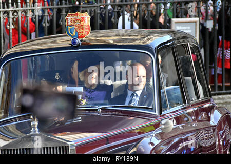 London, UK. 11th Mar, 2019. Prince Charles, Camilla Duchess of Cornwall at annual multi-faith service in celebration of the Commonwealth, at Westminster Abbey Credit: Nils Jorgensen/Alamy Live News - Stock Photo