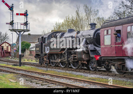 Esat Lancashire railway Spring steam gala 2019. - Stock Photo