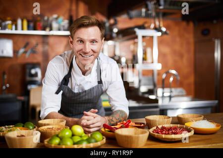 Smiling Chef - Stock Photo