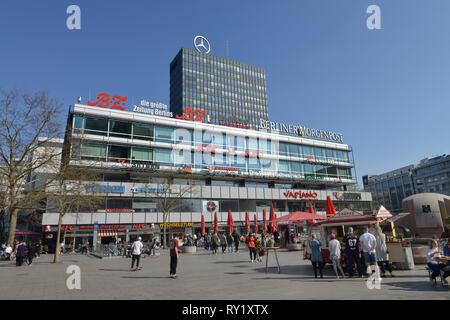 Europa-Center, Breitscheidplatz, Charlottenburg, Berlin Deutschland - Stock Photo