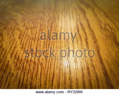 Polished wood floor surface, perspective view - abstract textured background - Stock Photo