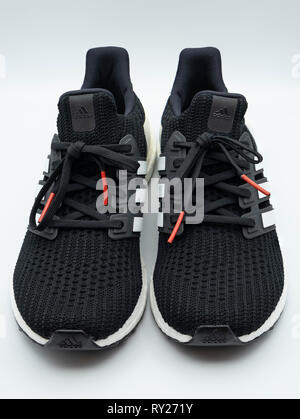 Adidas Ultraboost running shoes - Stock Photo