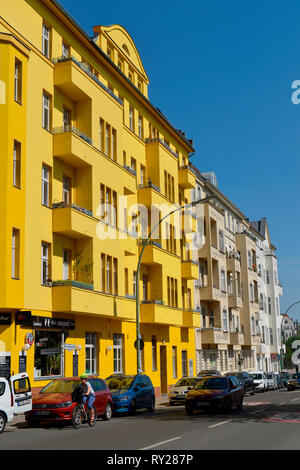 Altbau, Monumentenstrasse, Schoeneberg, Berlin, Deutschland - Stock Photo