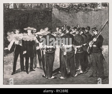 The Execution of Emperor Maximilian, 1867. Edouard Manet (French, 1832-1883). Lithograph - Stock Photo