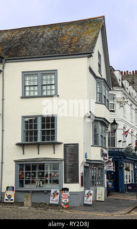 Island House, Southside Street on Plymouth's historic Barbican - Stock Photo