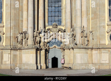 Basilica of the Assumption of the Blessed Virgin Mary in Krzeszów is a Roman Catholic church and abbey of the Order of Saint Benedict in Krzeszów - Stock Photo