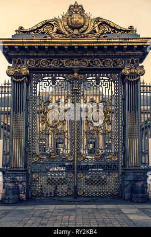 Gate of the Palais de Justice in Paris which is the house of the French Supreme Court