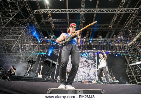 BLEACHERS performing live, 12 juillet 2015 - Stock Photo