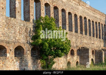 Acueducto San Lazaro in Merida Badajoz aqueduct at Extremadura of Spain - Stock Photo