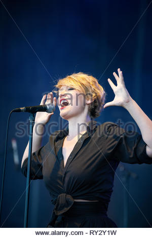 SR KREBS performing live at Musilac summer festival, 10 july 2015 - Stock Photo