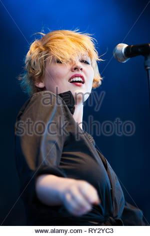 SR KREBS performing live at Musilac summer festival, 10 july 2015 - Stock Photo